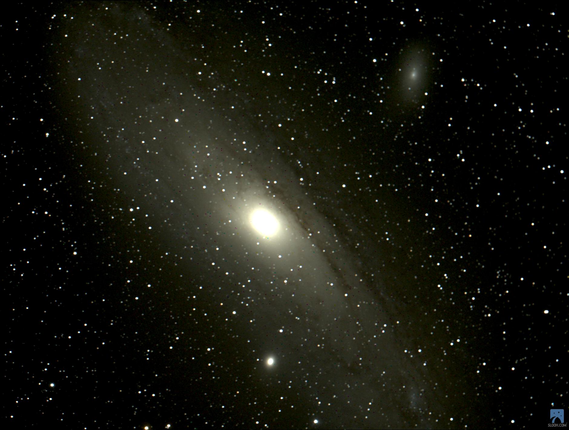 Slooh çekimim M31