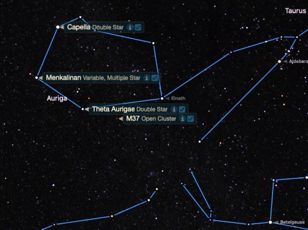 M37'nin yeri