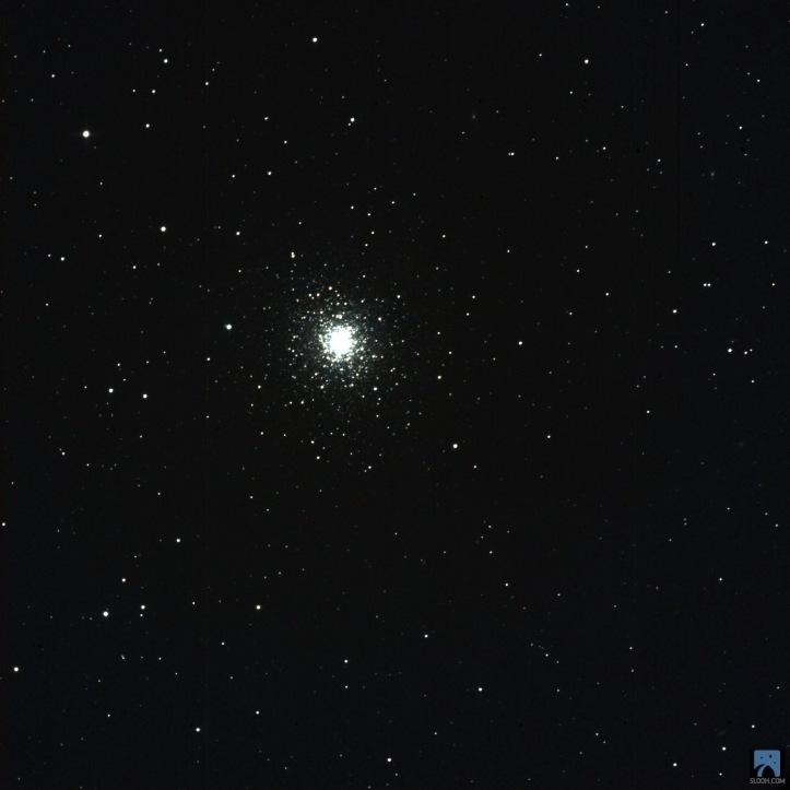 Slooh teleskoplarıyla online olarak internet üstünden çektiğim M92 fotoğrafı.
