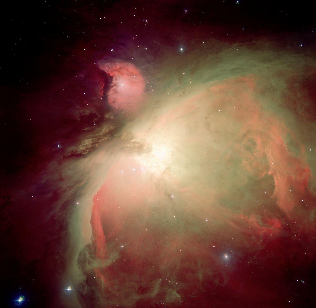 Orion bulutsusunun 2.2 metrelik ESO/MPG teleskobuyla oluşturulan görkemli görüntüsü. Foto: ESO