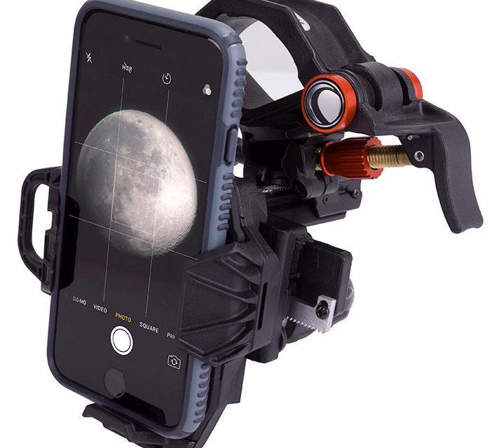 Celestron XYZ Cep teleskoba veya mikroskoba telefonu sabitleme aparatı.